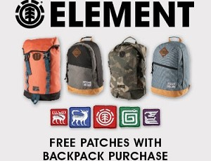 Affiliate Gift with Purchase: Free Patch Set With All Element Backpacks